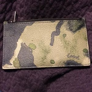 NWT COACH WATERCOLOR CARD HOLDER